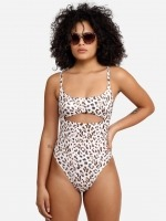 Free Society - Leopard Cut Out Swimsuit 1 Thumb