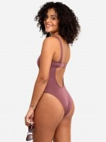Free Society - Plum Square Neck Swimsuit 4 Thumb