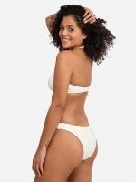Free Society - Scrunch Bandeau Bikini in Ivory 3 Thumb