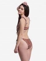 Free Society - Stripe Bralette Bikini 3 Thumb