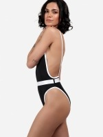 Free Society - Contrast Binding Belted Swimsuit 3 Thumb