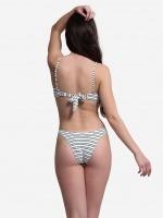 Free Society - Texture Stripe Bandeau Bikini 2 Thumb