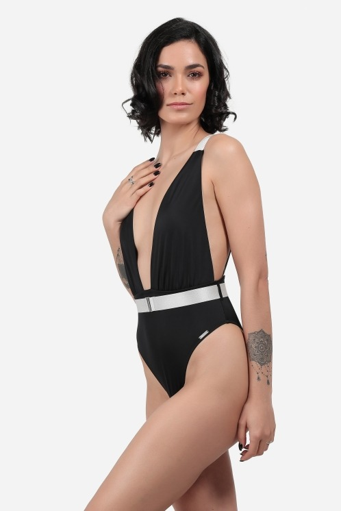 Free Society - Plunge Belted Swimsuit 2