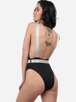 Free Society - Plunge Belted Swimsuit 3 Thumb