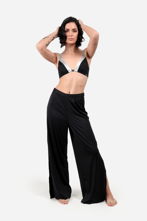 Free Society - Beach trousers in black 2