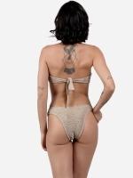 Free Society - Smocked Bandeau Bikini 3 Thumb