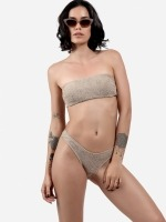 Free Society - Smocked Bandeau Bikini 1 Thumb