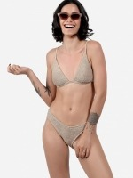 Free Society - Smocked Triangle Bikini 2 Thumb
