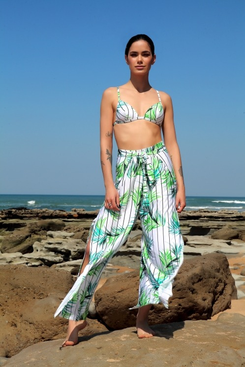 Free Society - White Palm Trousers 1