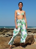 Free Society - White Palm Trousers 1 Thumb