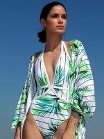 Free Society - White Palm Kimono 1 Thumb