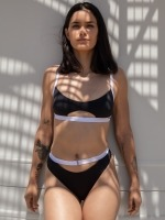 Free Society - Contrast Cut Out Crop Bikini 2 Thumb