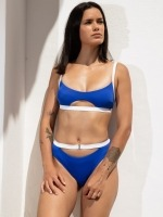 Free Society - Contrast Cut Out Crop Bikini 1 Thumb