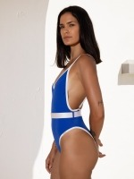 Free Society - Contrast Belted Swimsuit 3 Thumb