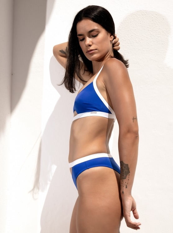 Free Society - Contrast Cut Out Crop Bikini 3 Zoom Image