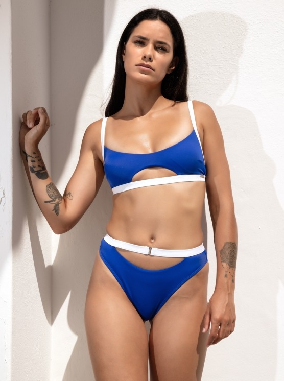 Free Society - Contrast Cut Out Crop Bikini 2