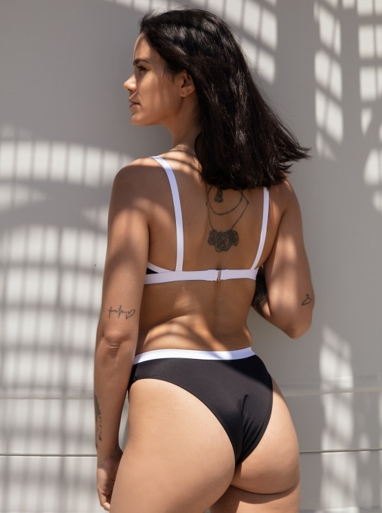 Free Society - Contrast Cut Out Crop Bikini 4 Imagem Zoom