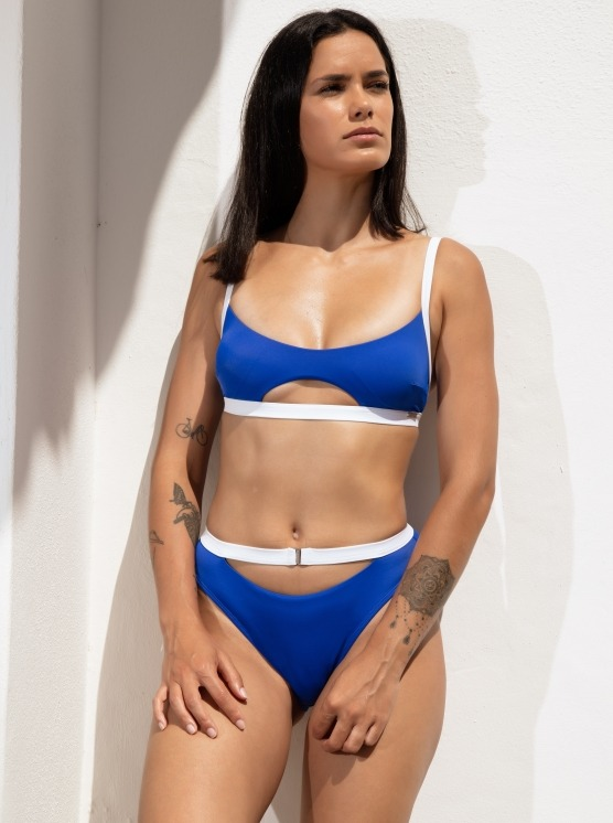 Free Society - Contrast Cut Out Crop Bikini 1 Zoom Image
