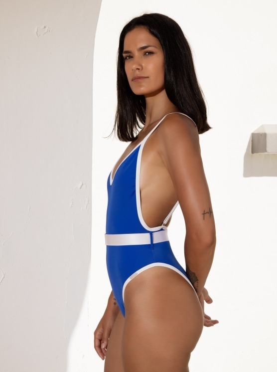 Free Society - Contrast Belted Swimsuit 3