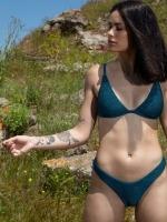 Free Society - Crinkle Triangle Bikini 2 Thumb