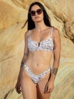 Free Society - White Leopard V Wire Bikini 1 Thumb