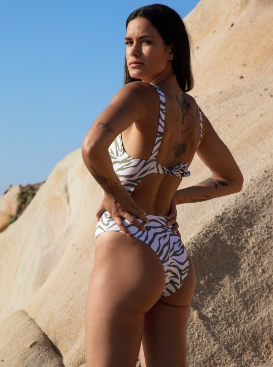 Free Society - Cut Out Zebra Swimsuit 5