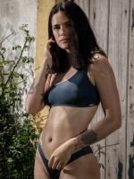 Free Society - Metalic One Shoulder Bikini 3 Thumb