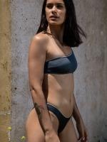 Free Society - Metalic One Shoulder Bikini 2 Thumb