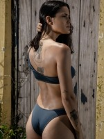 Free Society - Metalic One Shoulder Bikini 4 Thumb
