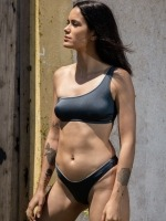 Free Society - Metalic One Shoulder Bikini 1 Thumb