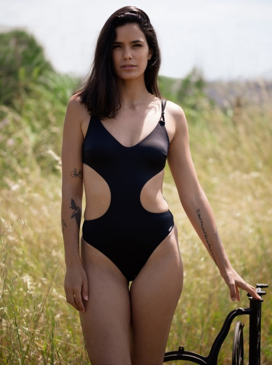 Free Society - Cut Out Swimsuit in Black 1