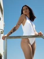Free Society - One Shoulder Swimsuit 4 Thumb