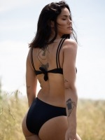 Free Society - Cut Out Swimsuit in Black 3 Thumb